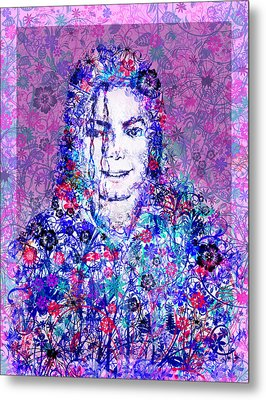 Mj Floral Version Metal Print by Bekim Art