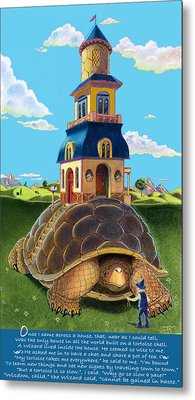 Mobile Home With Whimsical Poem Metal Print by J L Meadows