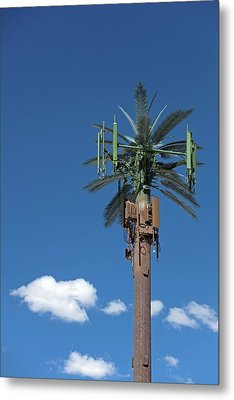 Mobile Phone Communications Tower Metal Print by Jim West