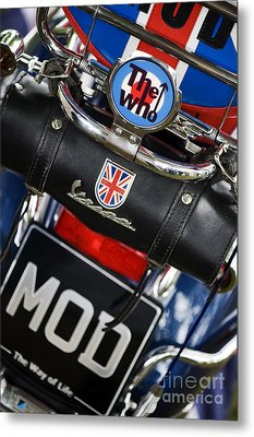 Mod Vespa Metal Print by Tim Gainey