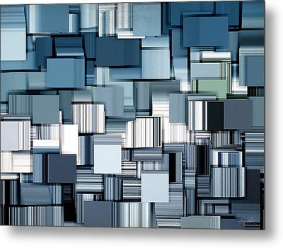 Modern Abstract II Metal Print by Lourry Legarde