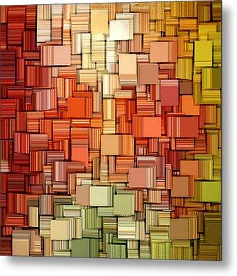 Modern Abstract Viii Metal Print by Lourry Legarde