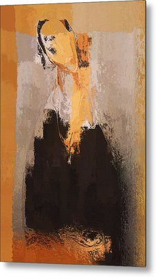 Modern From Classic Art Portrait - 088a Metal Print by Variance Collections