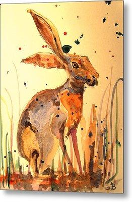 Modern Hare Metal Print by Juan  Bosco