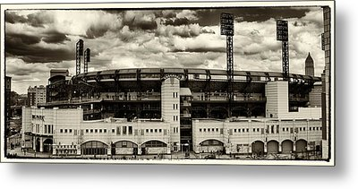 Modern Retro Pnc Park Exterior Metal Print by Gary Cain