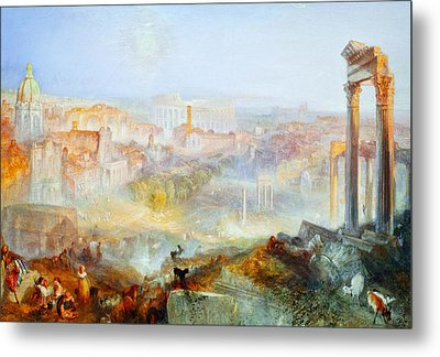 Modern Rome Campo Vaccino Metal Print by Celestial Images