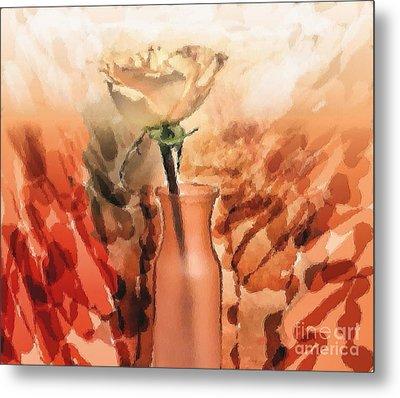 Modern Rose Metal Print by Marsha Heiken