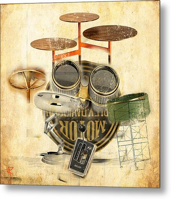 Modernist Percussion Metal Print by Russell Pierce
