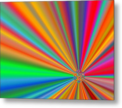 Molecule Metal Print by Kelly McManus