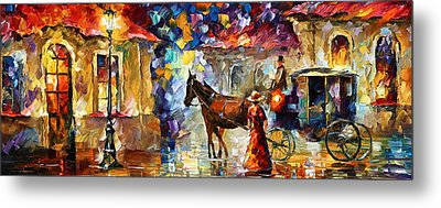 Momentary Stop Metal Print by Leonid Afremov