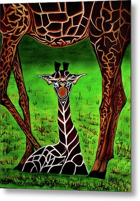 Momma's Boy Metal Print by Adele Moscaritolo