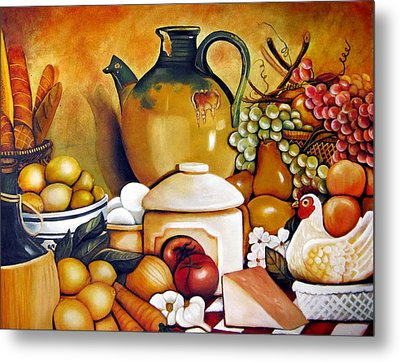 Mom's Kitchen Metal Print by Dalgis Edelson