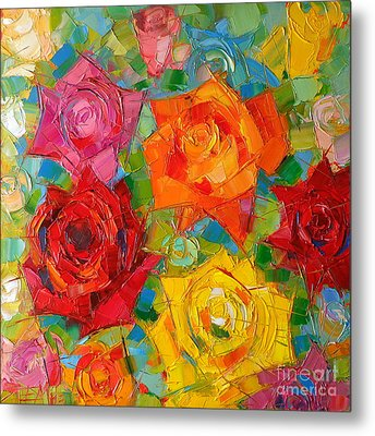 Mon Amour La Rose Metal Print by Mona Edulesco
