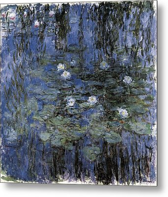 Monet, Claude 1840-1926. Blue Metal Print by Everett