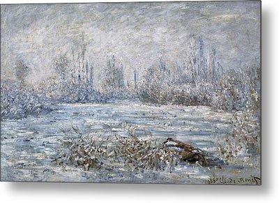 Monet, Claude 1840-1926. Frost Metal Print by Everett