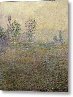 Monet, Claude 1840-1926. Meadows Metal Print by Everett