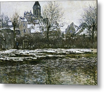 Monet, Claude 1840-1926. The Church Metal Print by Everett