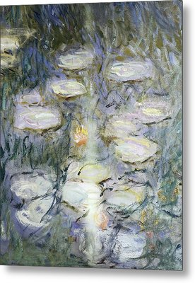 Monet, Claude 1840-1926. Waterlilies Metal Print by Everett