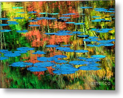 Monet Reflection Metal Print by Inge Johnsson