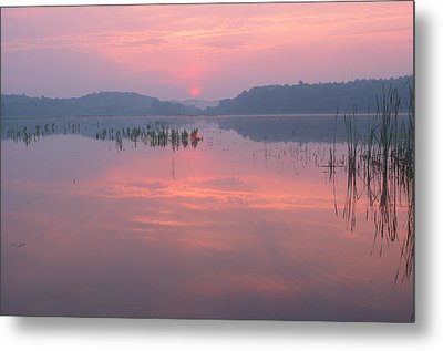 Monet Sunrise Great Meadows Concord Ma Metal Print by Bucko Productions Photography