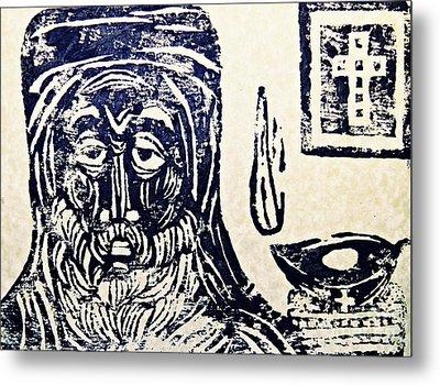 Monk 5 Metal Print by Sarah Loft