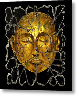 Monk In Meditation Metal Print by Steve Bogdanoff