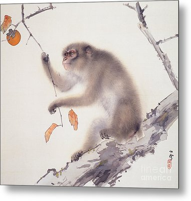 Monkey Metal Print by Pg Reproductions