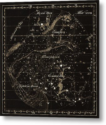 Monoceros Constellations, 1829 Metal Print by Science Photo Library