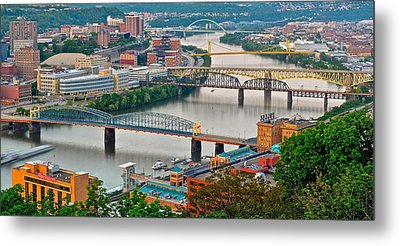 Monongahela Bridges Metal Print by Frozen in Time Fine Art Photography