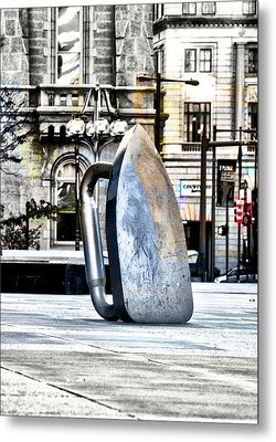 Monopoly Iron Statue In Philadelphia Metal Print by Bill Cannon
