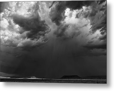 Monsoon Afternoon - Black And White New Mexico Desert Photograph Metal Print by Duane Miller