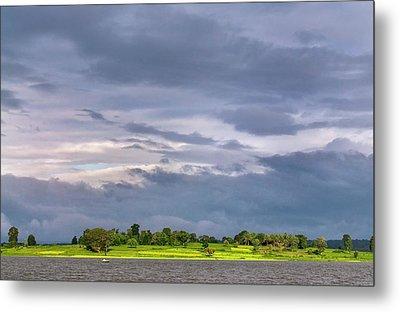Monsoon Clouds Over Landscape Metal Print by K Jayaram