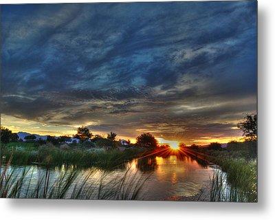 Monsoon Sunset Metal Print by Tam Ryan