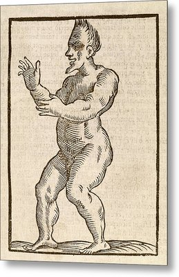 Monstrous Human Figure Metal Print by Middle Temple Library