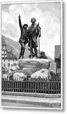 Mont Blanc First Ascent Monument Metal Print by Science Photo Library