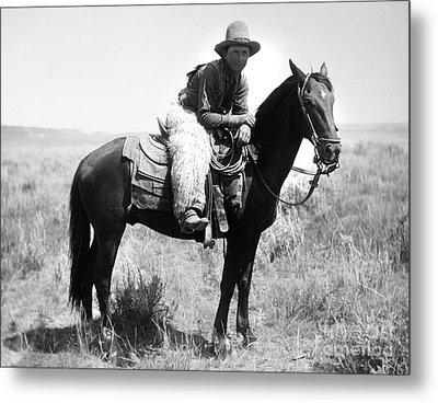 Montana Cowboy 1904 Metal Print by Granger