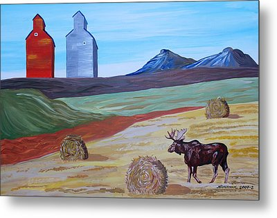 Montana Moose Metal Print by Mike Nahorniak