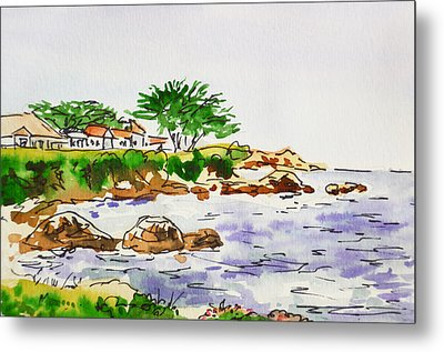 Monterey- California Sketchbook Project Metal Print by Irina Sztukowski