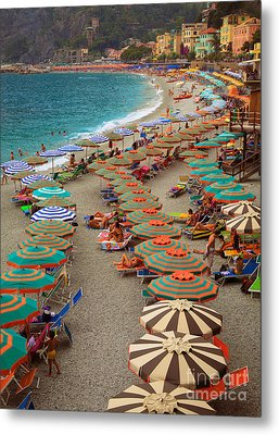 Monterosso Beach Metal Print by Inge Johnsson