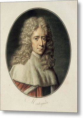Montesquieu, Charles-louis De Secondat Metal Print by Everett