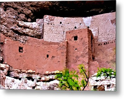 Montezuma Castle  Metal Print by Bob and Nadine Johnston