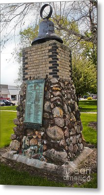 Montezuma Iowa Court House Monument Metal Print by Gregory Dyer