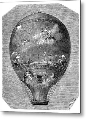 Montgolfier 'le Flesselles' Balloon Metal Print by Science Photo Library