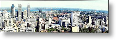 Montreal City View From Mont Royal Metal Print by Lingfai Leung