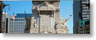 Monument In A City, Soldiers Metal Print by Panoramic Images