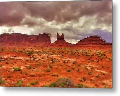 Monument Valley Metal Print by Ayse Deniz