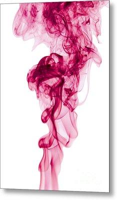 Mood Colored Abstract Vertical Deep Purple Smokel Art 01 Metal Print by Alexandra K