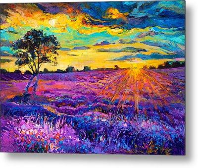 Lavender Field Metal Print by Ivailo Nikolov