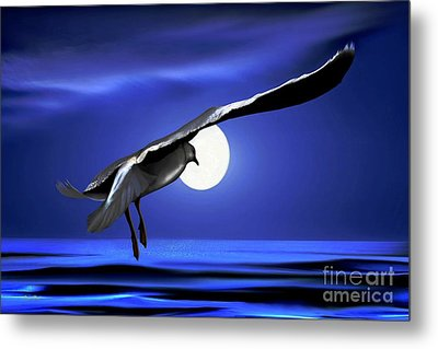 Moon Launch Metal Print by Dale   Ford