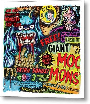 Moon Monster Metal Print by Vince Bonavoglia